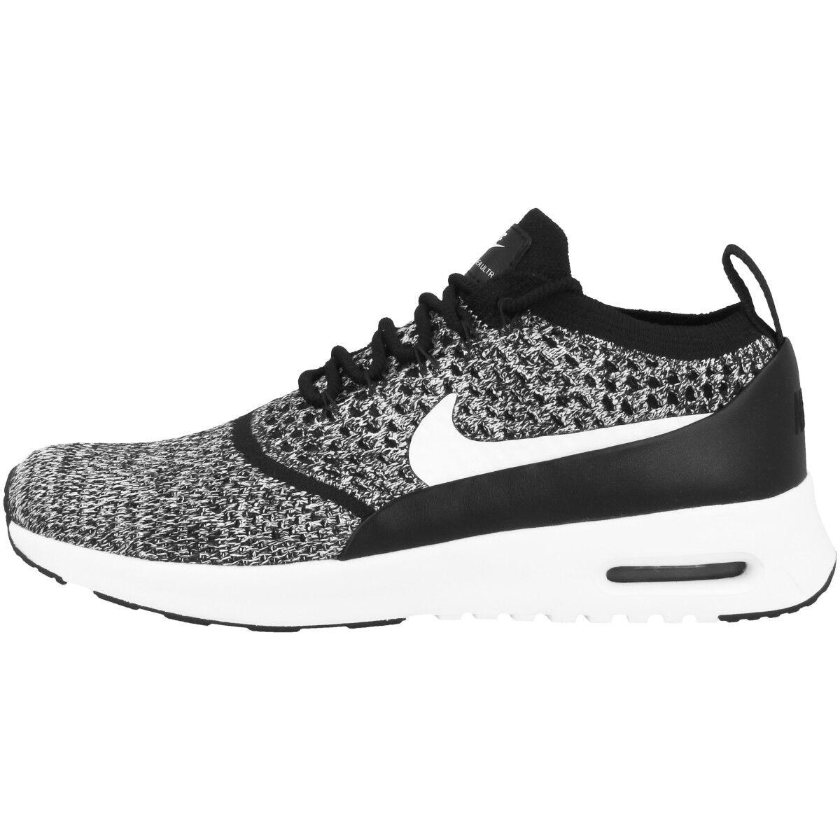 Los últimos zapatos de descuento para hombres y mujeres Nike Air Max Thea ultra flyknit Women zapatos zapatillas Black White 881175-001