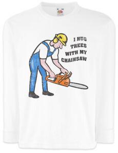 Tree-Service-II-Kinder-Langarm-T-Shirt-Holzfaeller-Holz-machen-Waldarbeiter