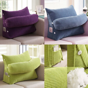 Adjustable-Wedge-Back-Pillow-Rest-Sleep-Neck-Home-Sofa-Bed-Lumbar-Office-Cushion