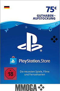 75€ Eur PlayStation Network Card - Sony PSN PS3 PS4 PS Vita 75 Euro Guthaben DE