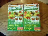 Debbie Meyer Green Bags Reusable Fruit & Vegetable Storage 10 Large & 10 Medium