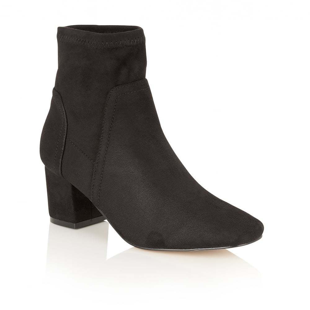 Dolcis Jinger Black Faux Suede Slouch Ankle Boots Size 3