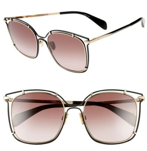 New Authentic RAG /& BONE RNB1023//S S45//3X Rose Gold//Pink Gradient Lenses 56mm