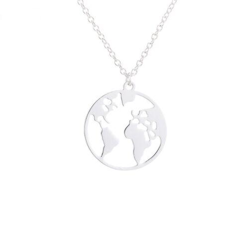 Globus Weltkugel World Kette Silber Gold Rosegold Farben Reisen Travel