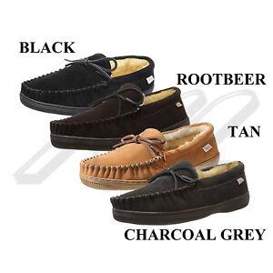 Tamarac-Men-039-s-Camper-7161-Leather-Upper-Indoor-Outdoor-Loafer-Moccasin-Slippers