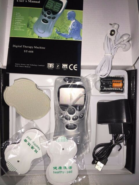 Tens Digital Therapy Machine Pain Relief Mucle Ache solve Massager with 4 PADS