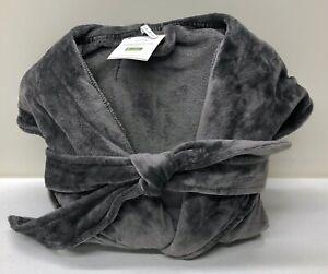 New Pottery Barn Powder Plush Medium Bath Robe Charcoal