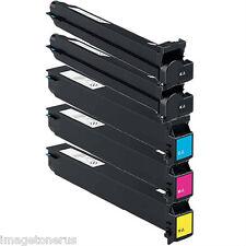 5-Pack Toner Set for Konica Minolta BizHub C250 C252 C250p C252p TN-210 TN210