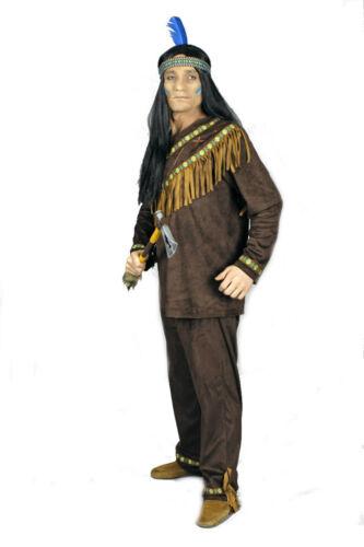 Indianerkostüm Herren Indianer dunkelbraun Wildlederoptik Western Karneval excl