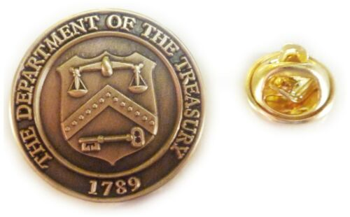 Department of the Treasury IRS Finance Accountant Tax Seal Hat Suit Lapel Pin