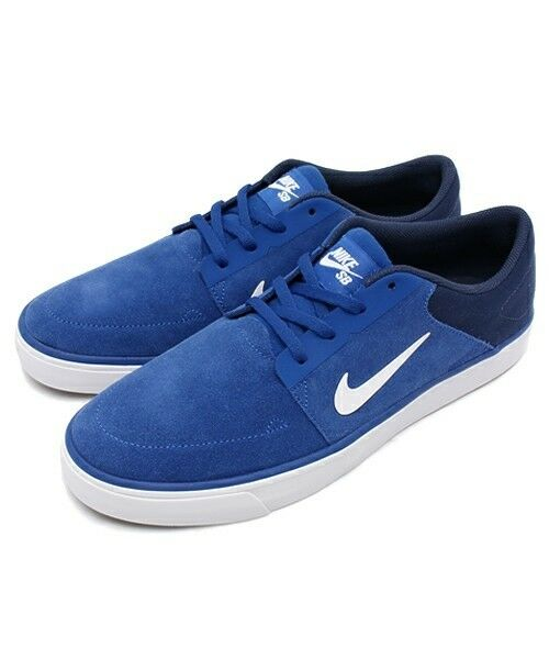 best service 44957 f28a5 NIKE SB PORTMORE LOW SKATE SNEAKER MEN SHOES BLUE ROYAL ROYAL ROYAL  725027-414 SIZE