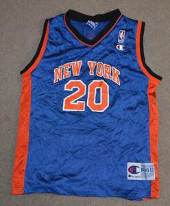 quality design 3f84c d79b2 Details about Vtg Allan Houston New York Knicks Champion Jersey Youth Medum  10-12