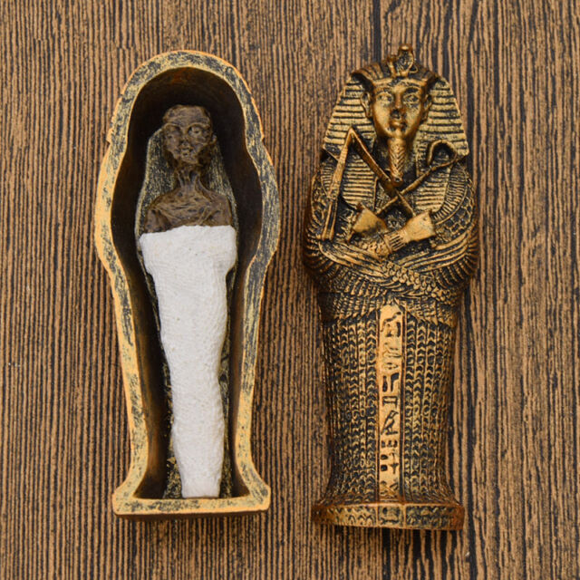 Egyptian Mummies Figure Mummy in a Sarcophagus Resin ...