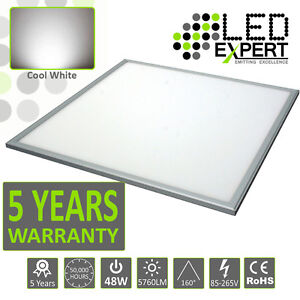 48W Ceiling Suspended Recessed LED Panel White Light Office Lighting 600 x 600