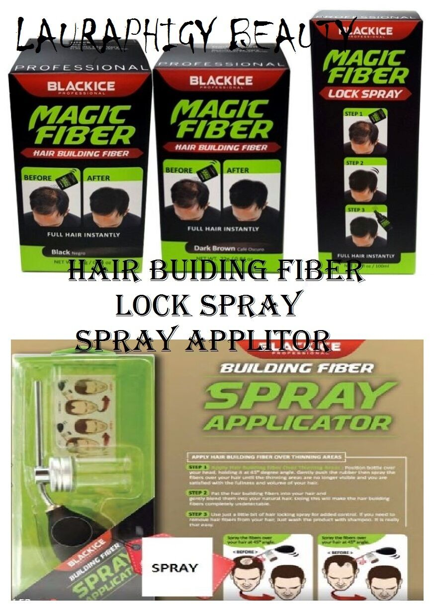 Black Ice Professional Magic Fibers Lock Spray Spray Application