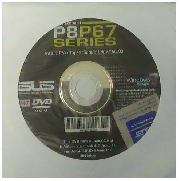 original Asus Mainboard Treiber CD DVD P8P67 B3 OVP NEU driver Aufkleber P8P67