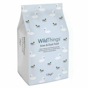 WILD THINGS SWAN & DUCK FOOD 1.5kg - Floating Pellets Nuggets Waterfowl