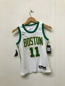 premium selection 6fea2 0f2a0 Details about Nike Kid's NBA Boston Celtics City Jersey - 8 Years - Irving  11 - White - New