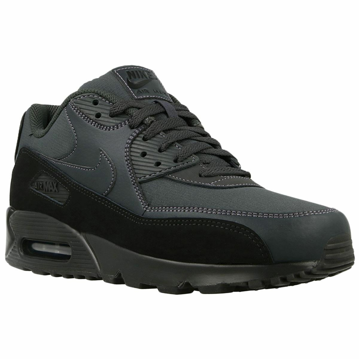 Nike Air Max 90 Ess Coated Leather Low-Top Running Sneakers Mens Trainers