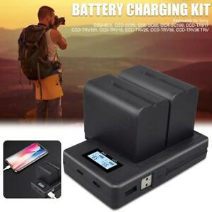 X2-Large-capacity-Battery-7200mAh-LCD-Dual-USB-Charger-for-Sony-NP-F960-NP-F970