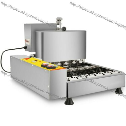 6pcs//Row Heavy Duty Electric Automated Mini Doughnut Donut Machine Maker Fryer