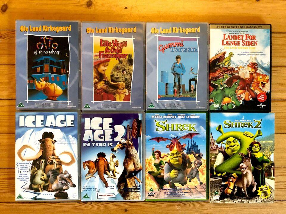 Disney Pixar tegnefilm og børnefilm DVD +20 stk., DVD,
