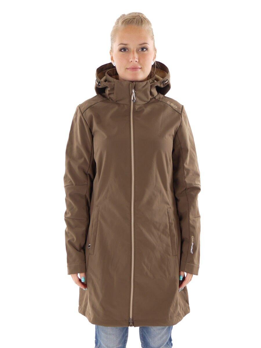 CMP Softshelljacke Funktionsjacke Mantel braun Stretch ClimaProtect®