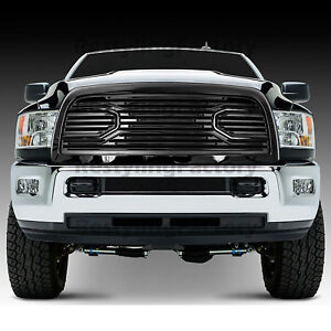 Big-Horn-Black-Packaged-Grille-Black-Shell-for-10-18-Dodge-RAM-2500-3500