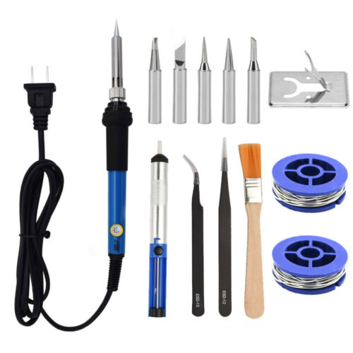 Electric Soldering Iron Gun Adjustable Temperature Welding Tool Tip Kit 110V 60W