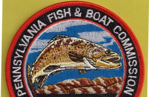 "Pa Pennsylvania Fish Game Commission NEW 4/"" 2nd Issued 1992 Brown Trout 4/"" Patch"
