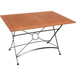 Tisch Gartentisch Kaffeetisch Klapptisch Holztisch Holz Klappbar 120