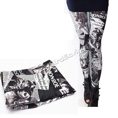 Women Lady's New Stylish Punk Sexy Stretchy Leggings Tight Pencil Skinny Pants