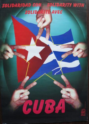OSPAAAL Poster Solidarity Original Autographed  Artist Rafael Enriquez ART