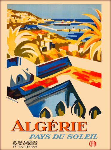 Algeria Algerie Africa Pays du Soleil Vintage Travel Poster Advertisement Poster