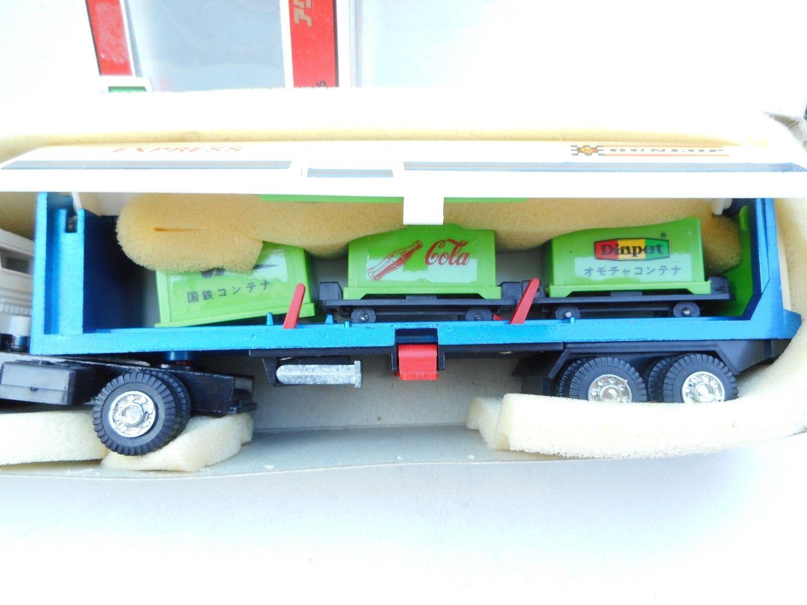 1:55 Diapet YONEZAWA HINO TRAILER VAN TRUCK T-71 DUNLOP trailer MADE IN JAPAN MB