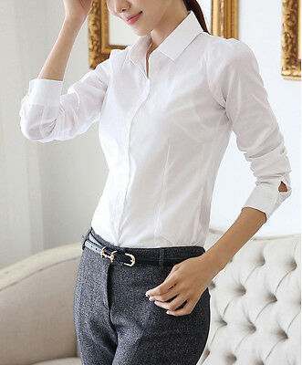 2014 New Womens Fashion Blouse Long Sleeve Casual Tops Button Down Shirt Blouse