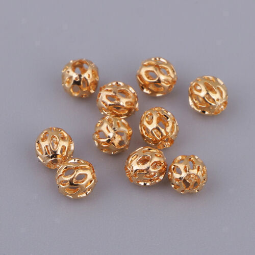 10 Stücke Metall Filigrane Hohlkugel Metallperlen Kugel Spacer beads Perlen