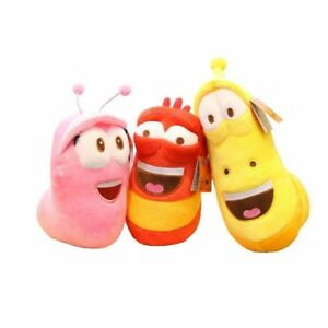 Larva Farting sound Plush Toy 8 Inch RED **US Seller**