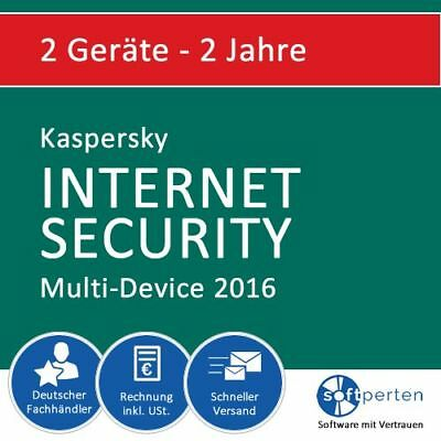 Kaspersky Internet Security 2016, 2 Geräte - 2 Jahre, Multi-Device, ESD