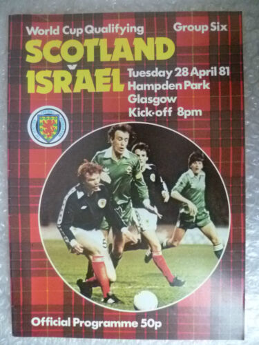 1981 World Cup Qualifying Match SCOTLAND v ISRAEL, 28 April