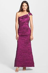 Alex-Evenings-Embellished-One-Shoulder-Taffeta-A-Line-Gown-Size-14