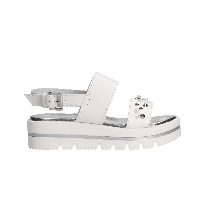 KEYS Sandalo scarpe fondo alto scarpe bianco scarpe alto Sandalo donna mod. 5872   cca745