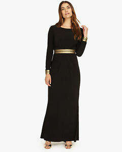 Robe longue noire Uk Faber Eight Phase taille zHUqvwggx