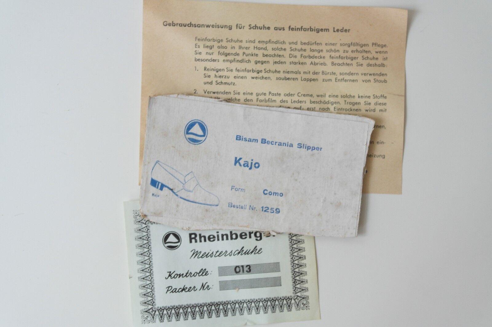 Rheinberger Slipper Meisterschuhe Schuhe Halbschuhe Slipper Rheinberger Rockabilly NOS True VINTAGE 48b782