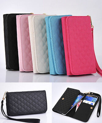 Luxury Credit Card Holder Wallet Leather Case For Samsung Galaxy S2 S3 S4 i9500