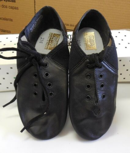 Leather neoprene arch jazz dance shoes black Main Street 3532 THEY RUN SMALL!