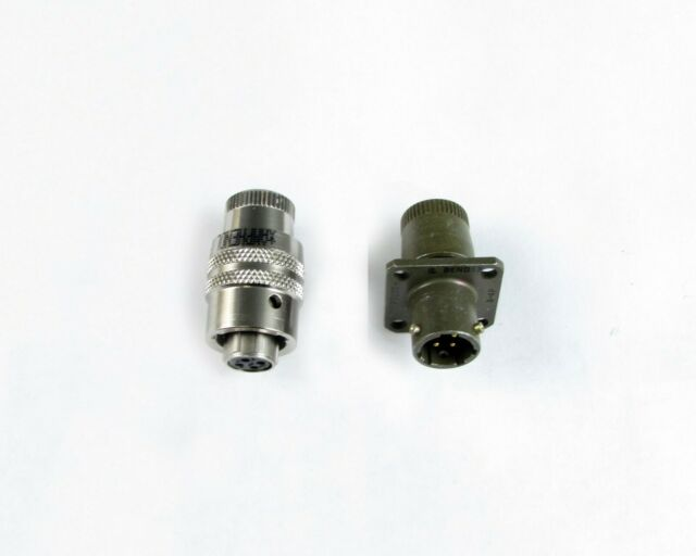 Connector Mated pair 4 Position Size 8 twist Bayonet PT Style Hermetic