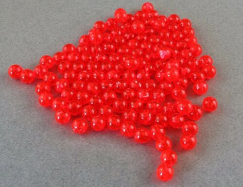 8mm 200 Count Round Fluorescent Coho Roe Beads USA Fishing Tackle Free Ship