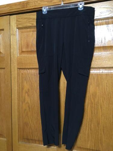 Athleta Chelsea Cargo Pant Black SIZE 14 #594971 E