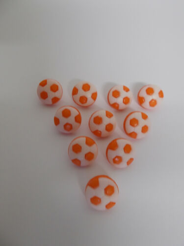10 x Football Buttons Baby Buttons Approx 14mm Shank Style